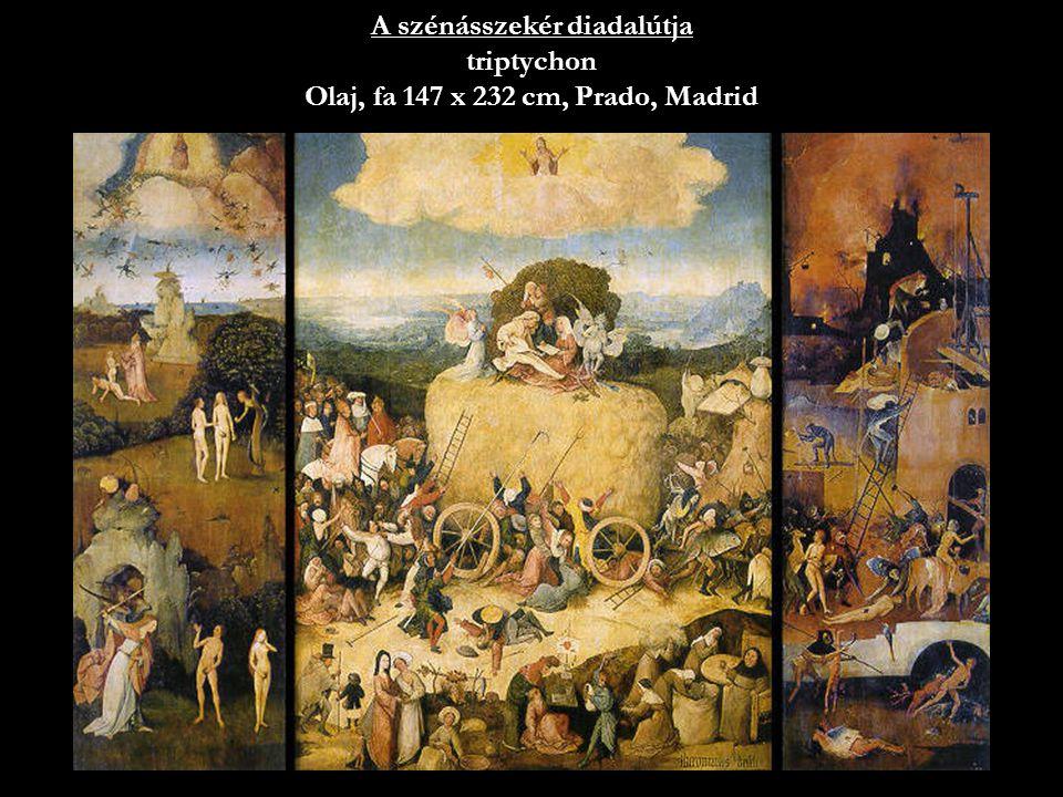26 A szénásszekér diadalútja triptychon Olaj, fa 147 x 232 cm, Prado, Madrid