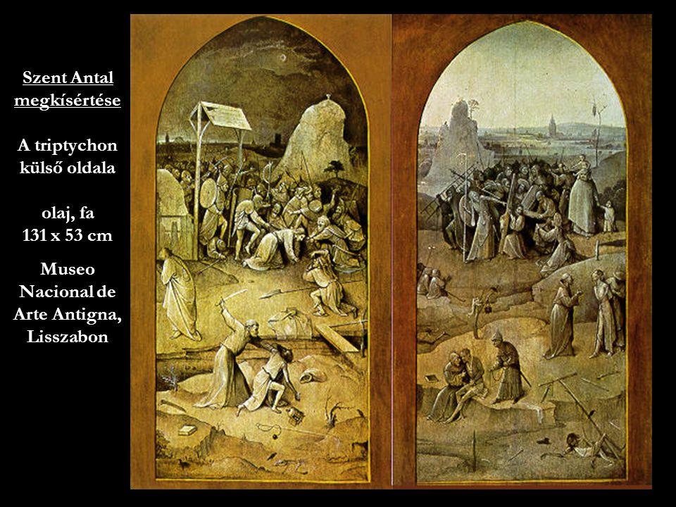 45 Szent Antal megkísértése A triptychon külső oldala olaj, fa 131 x 53 cm Museo Nacional de Arte Antigna, Lisszabon