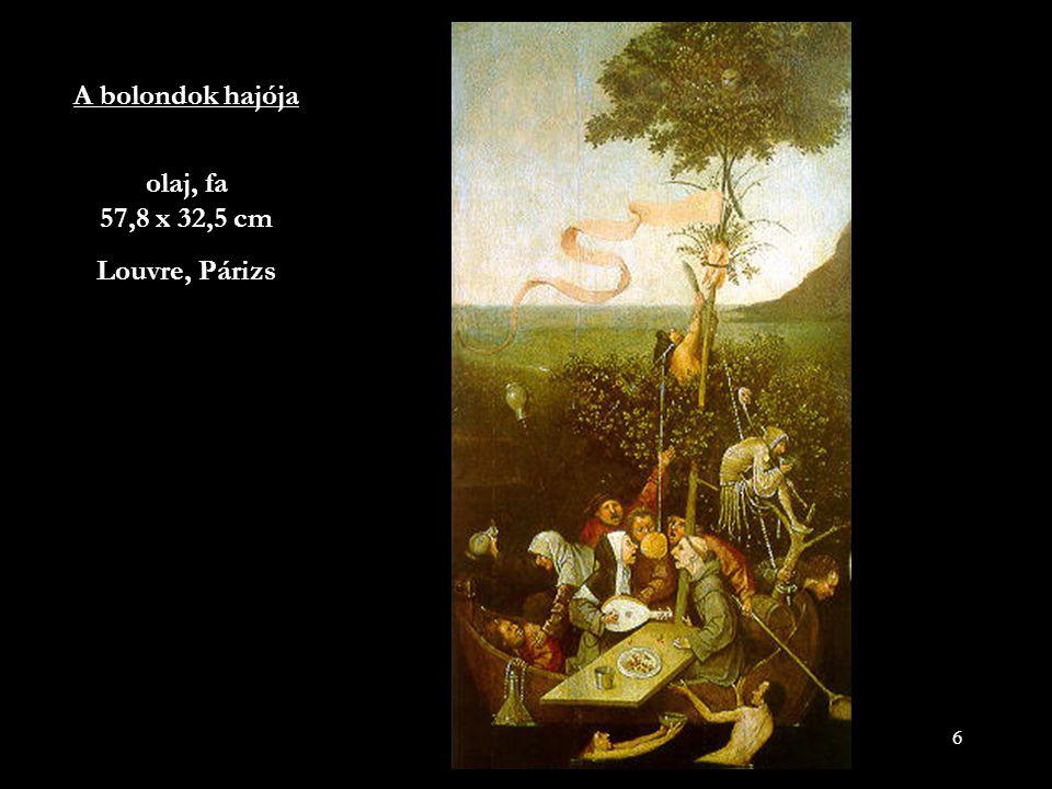17 Működésének középső szakaszára teszik két jelentős szárnyasoltárát: Az utolsó ítélet (Bécs, Gemáldegalerie der Akademie der bildenden Künste) és A szénásszekér (Madrid, Prado) címűt, mindkettő 1485-1500 között készült.
