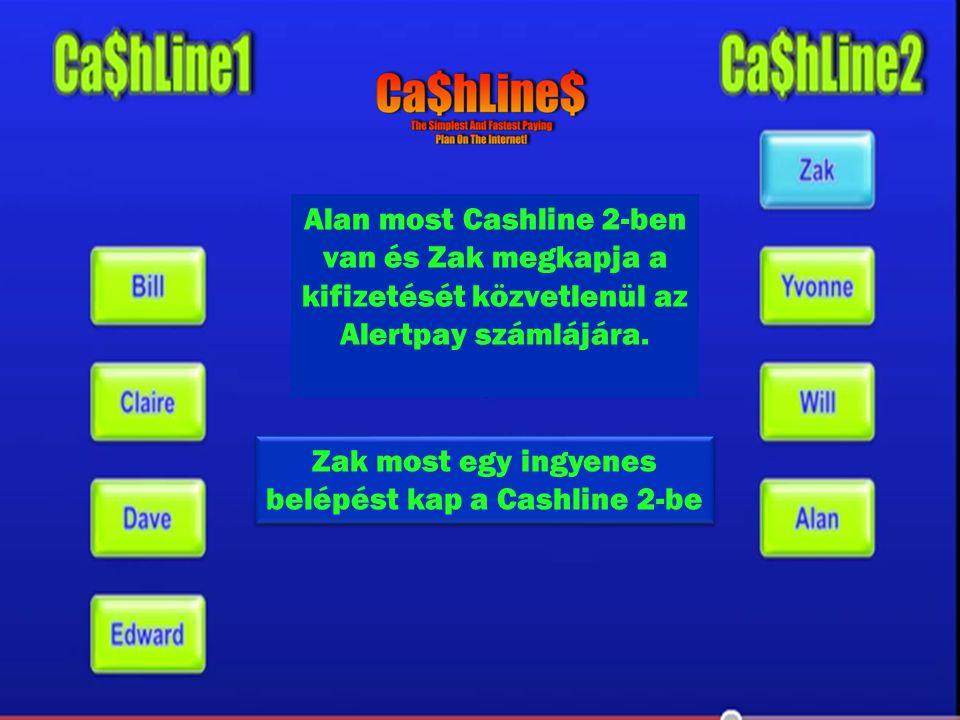Alan most Cashline 2-ben van és Zak megkapja a kifizetését közvetlenül az Alertpay számlájára.