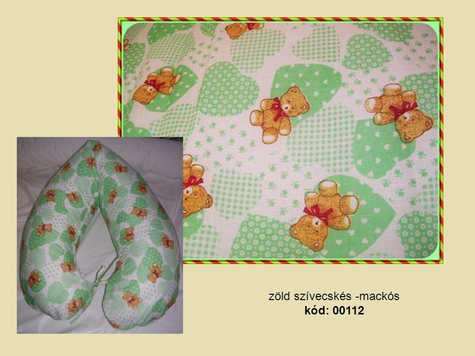 zöld szívecskés -mackós kód: 00112