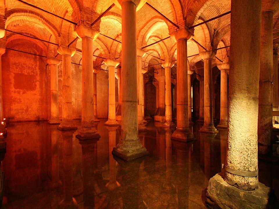 532-ben, I Justinianus császár elrendelte a 80 millió liter vizet tároló ciszterna építését, ami ostrom esetén elláthatta a város vízszükségletét. Az