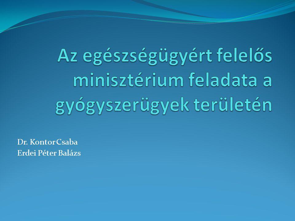 Feladatkörök Gyógyszerek forgalmazásával és a gyógyszerészettel összefüggő feladatok A gyógyszerek engedélyezésével és a gyógyszerek társadalmbiztosítási támogatásával összefüggő feladatok Gyógyászati segédeszközök és orvostechnikai eszközökkel valamint a gyógyászati ellátásokkal összefüggő feladatok Nemzetközi és európai uniót érintő feladatok Egyéb feladatok