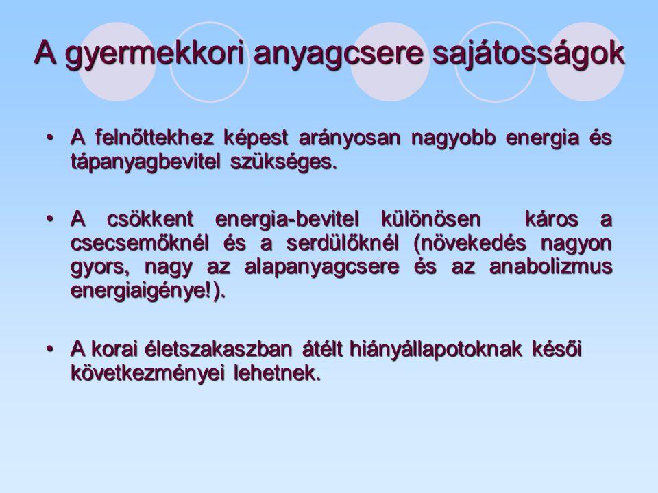 Enterális táplálás Specifikus, szájon át történő kiegészítő táplálás (bizonyos speciális tápszerek, speciális orvosi okból) Szondatáplálásliquid formula (tápszer) gyomorba post pyloricusan