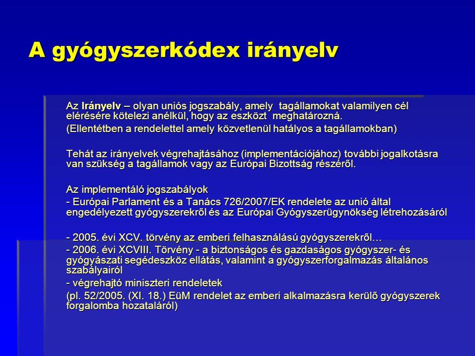 Farmakovigilancia irányelv – főbb rendelkezések VI.