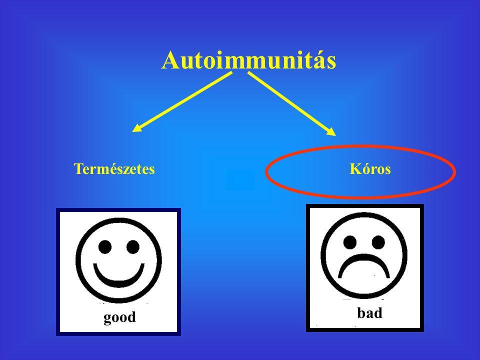 Autoimmunitás TermészetesKóros good bad
