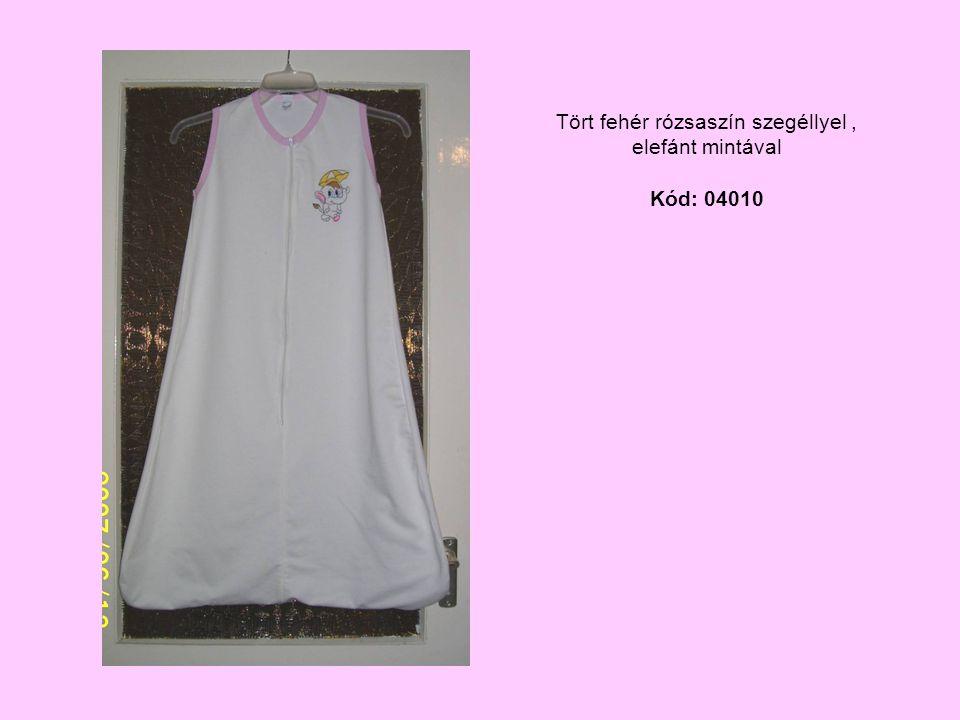 Tört fehér rózsaszín szegéllyel, elefánt mintával Kód: 04010