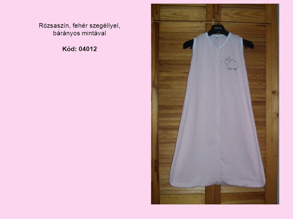 Rózsaszín, fehér szegéllyel, bárányos mintával Kód: 04012