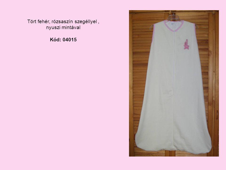 Tört fehér, rózsaszín szegéllyel, nyuszi mintával Kód: 04015