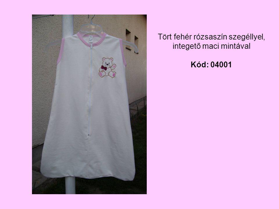 Tört fehér rózsaszín szegéllyel, integető maci mintával Kód: 04001
