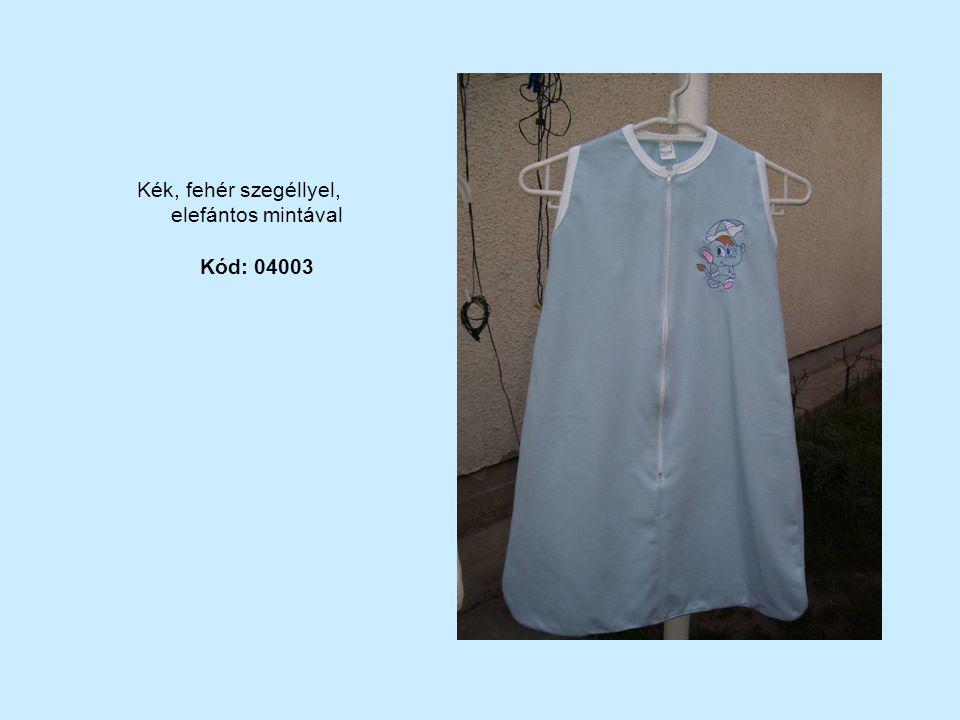 Kék, fehér szegéllyel, elefántos mintával Kód: 04003
