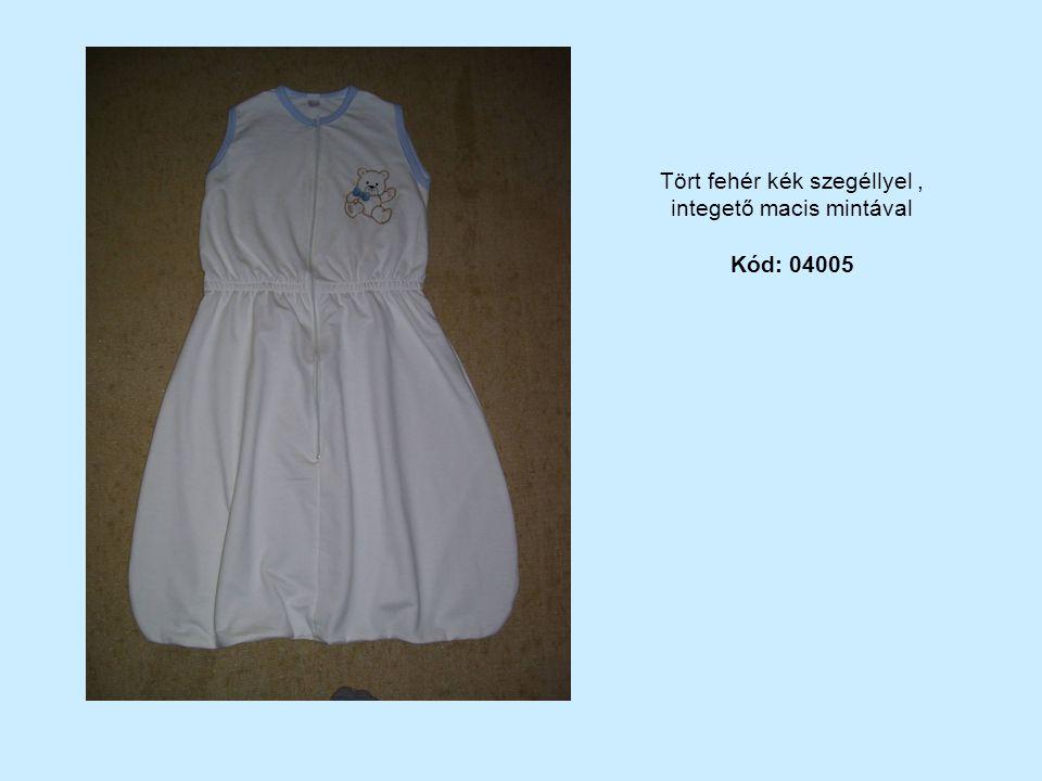 Tört fehér kék szegéllyel, integető macis mintával Kód: 04005