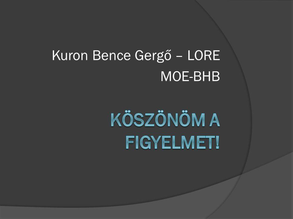 Kuron Bence Gergő – LORE MOE-BHB