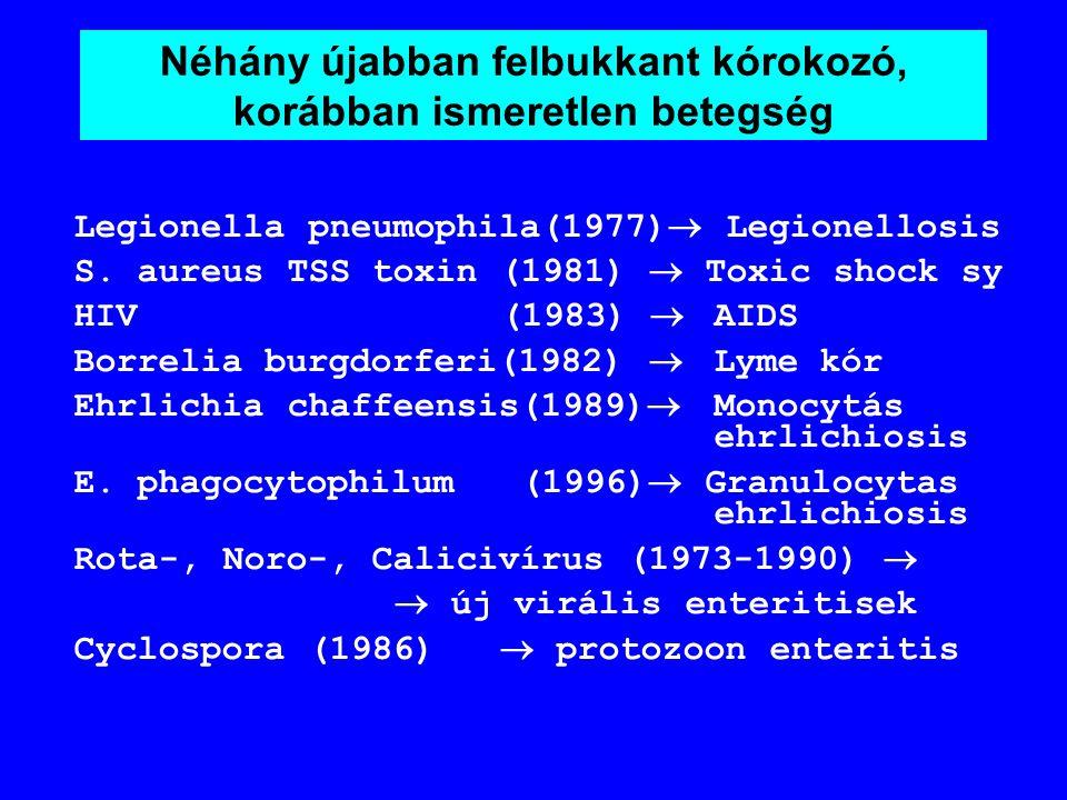 Az infektológai új kihívásai a XX. sz. végén és a XXI. sz. elején Változások az infekciós betegségek szerkezetében Nő a csökkent védekezőképességű bet