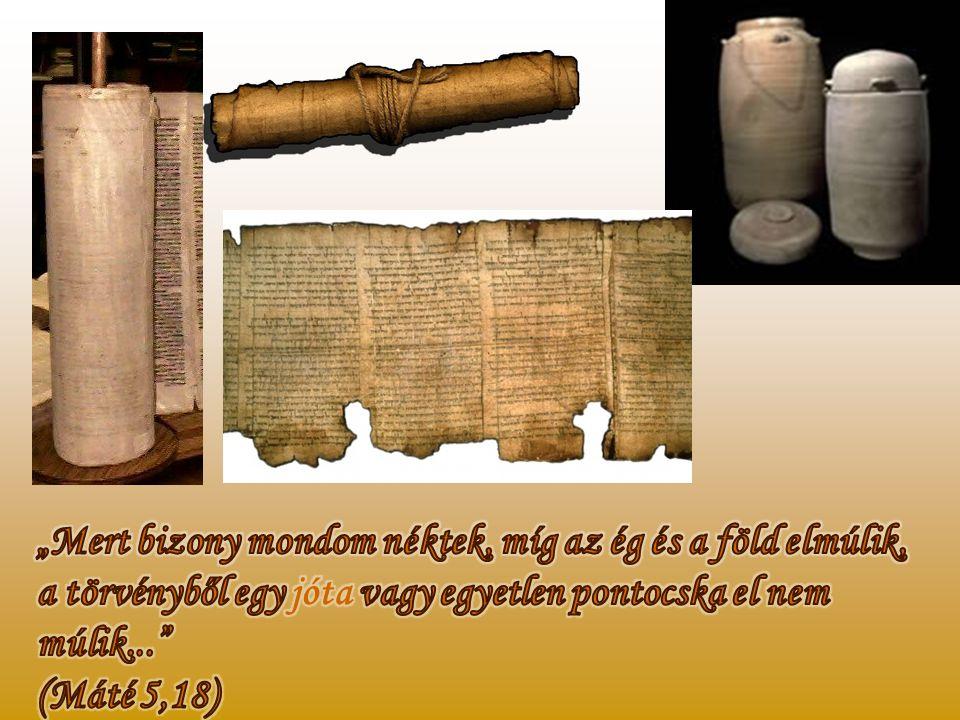 Az 1947-ben a holt-tengeri barlangokban felfedezett, cserépkorsókban tárolt kéziratok egyértelművé tették, hogy a Biblia ősi szövege semmit nem torzul