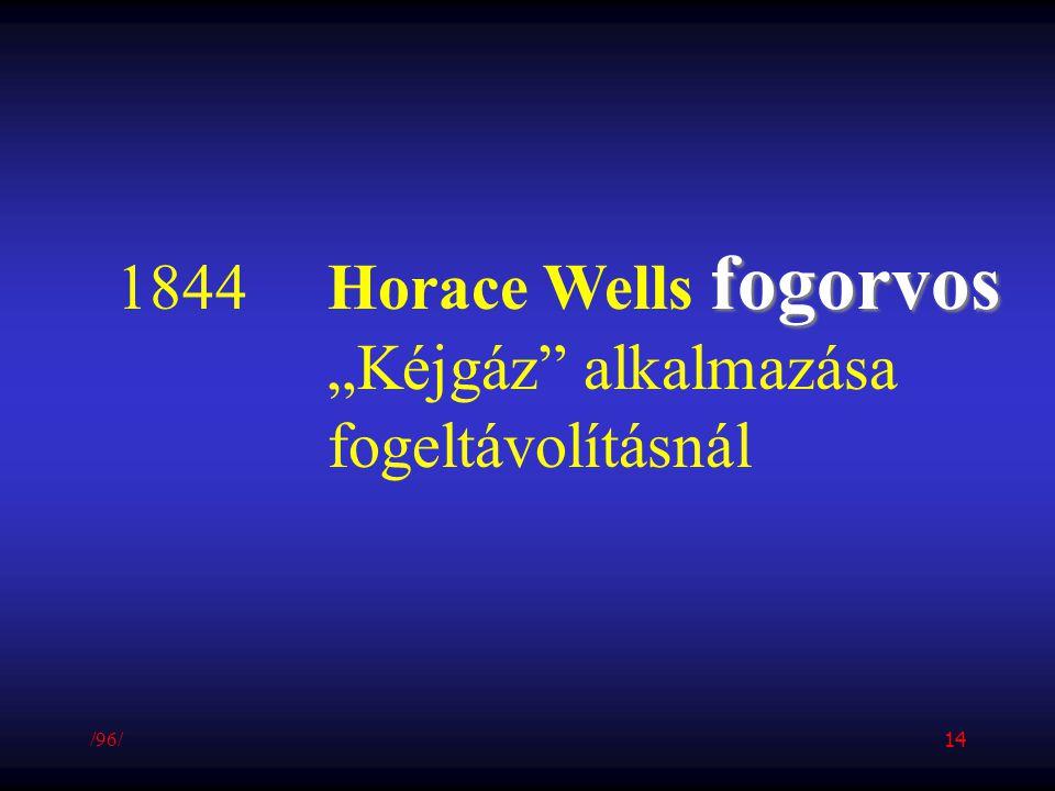 """fogorvos 1844Horace Wells fogorvos """"Kéjgáz"""" alkalmazása fogeltávolításnál /96/ 14"""