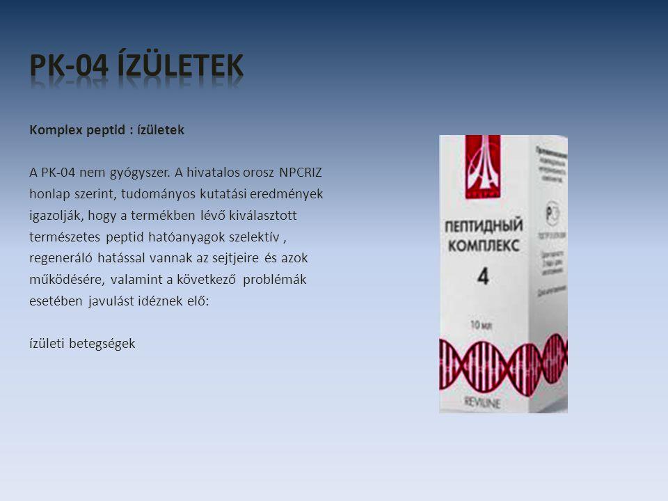 Komplex peptid : ízületek A PK-04 nem gyógyszer.