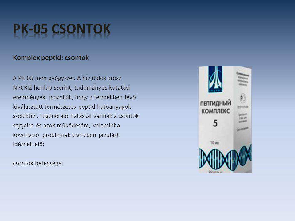 Komplex peptid: csontok A PK-05 nem gyógyszer.