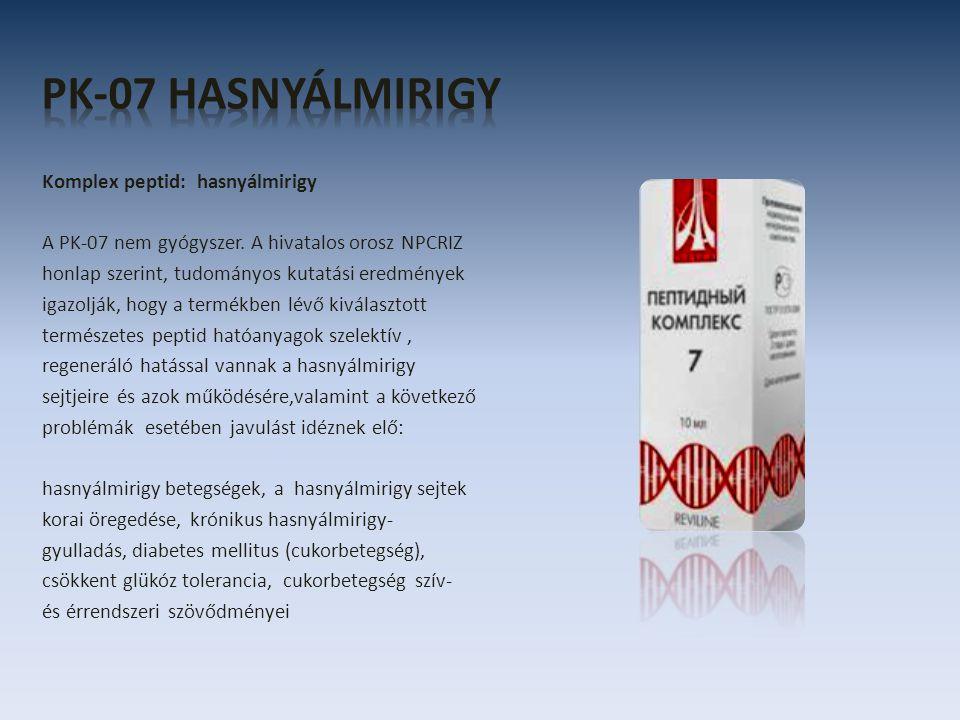 Komplex peptid: hasnyálmirigy A PK-07 nem gyógyszer.