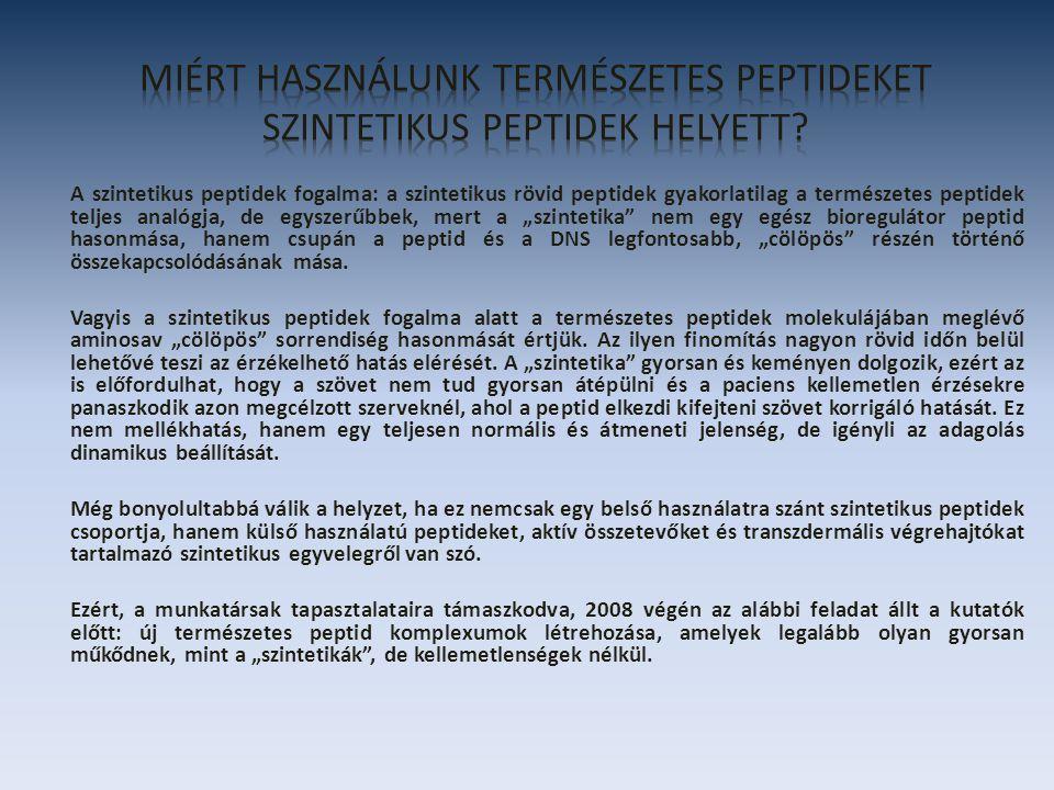 Komplex peptid: női reproduktív rendszer A PK-10 nem gyógyszer.