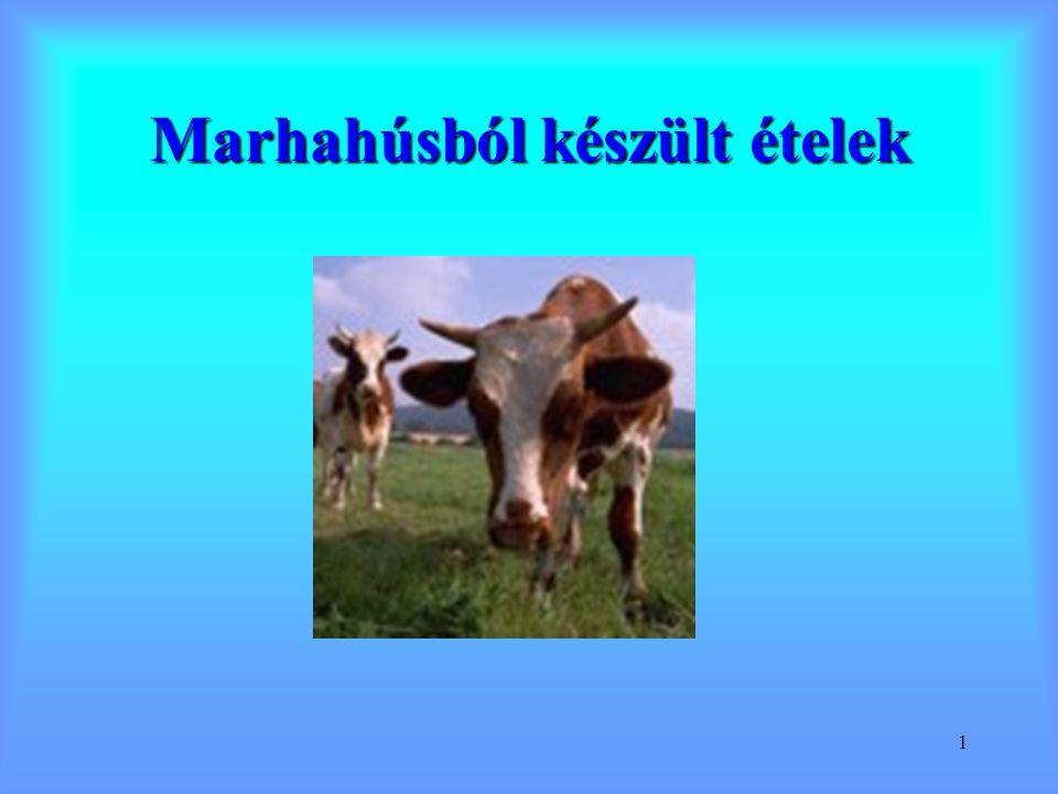 2 E (kcal) F (g) Zs (g) Cho (g) Marha11620,6110,3 Sertés2961725,30,6 Csirke11021,52,50,6 Pulyka17420,59,50,4 Vad- disznó 11221,62,40,5 Kcal* 4,2 = kJ