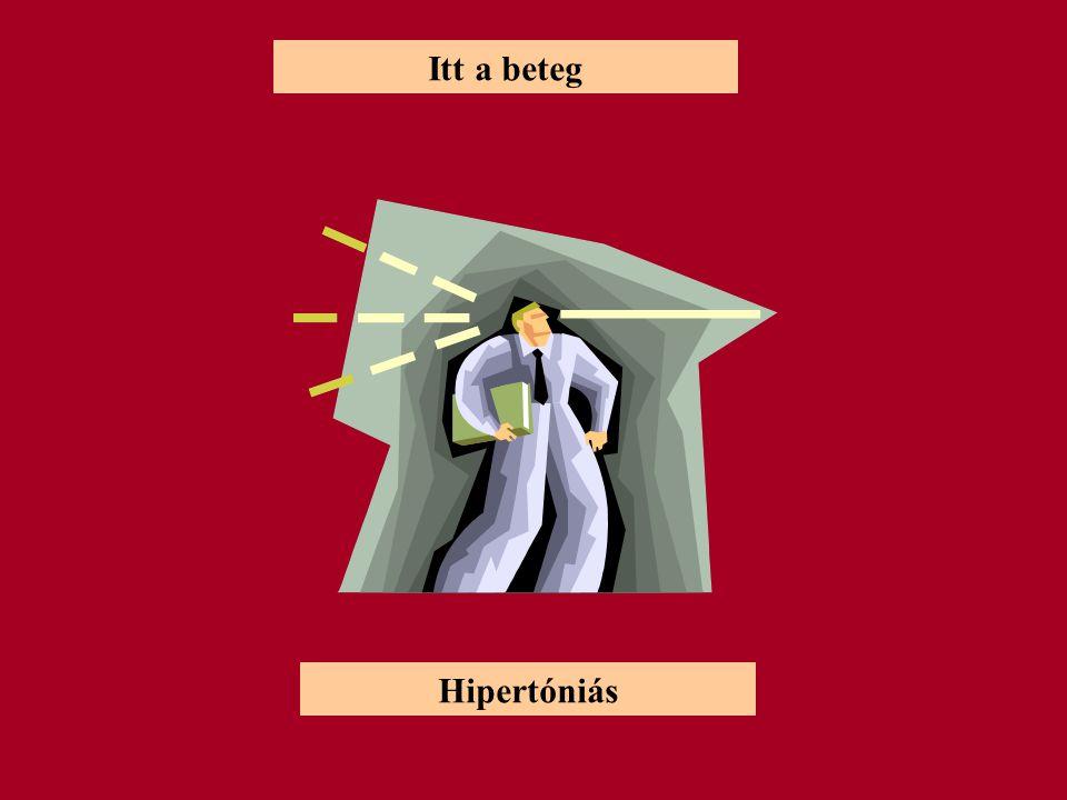 Itt a beteg Hipertóniás