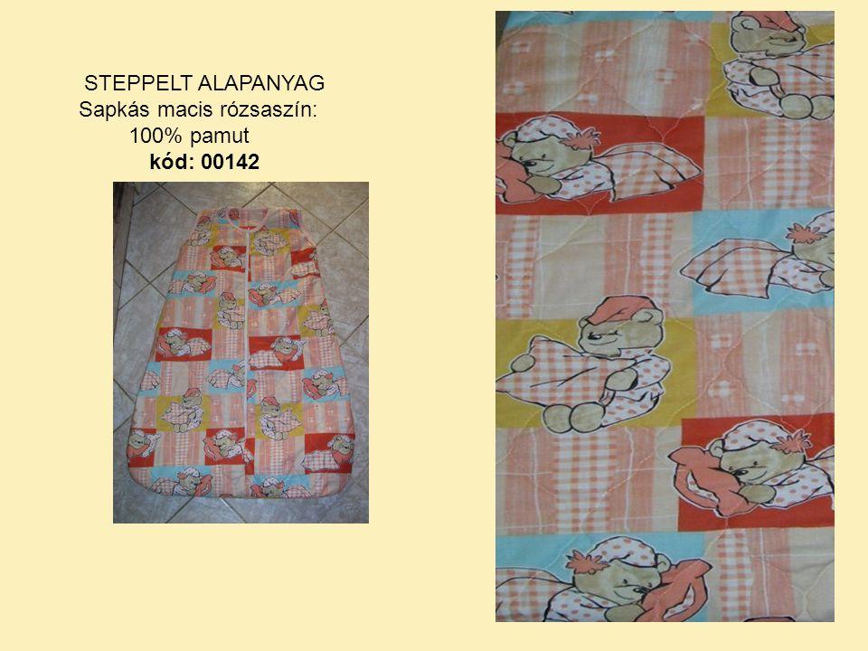 STEPPELT ALAPANYAG Sapkás macis rózsaszín: 100% pamut kód: 00142