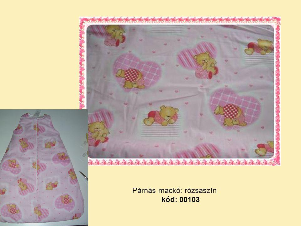 Párnás mackó: rózsaszín kód: 00103