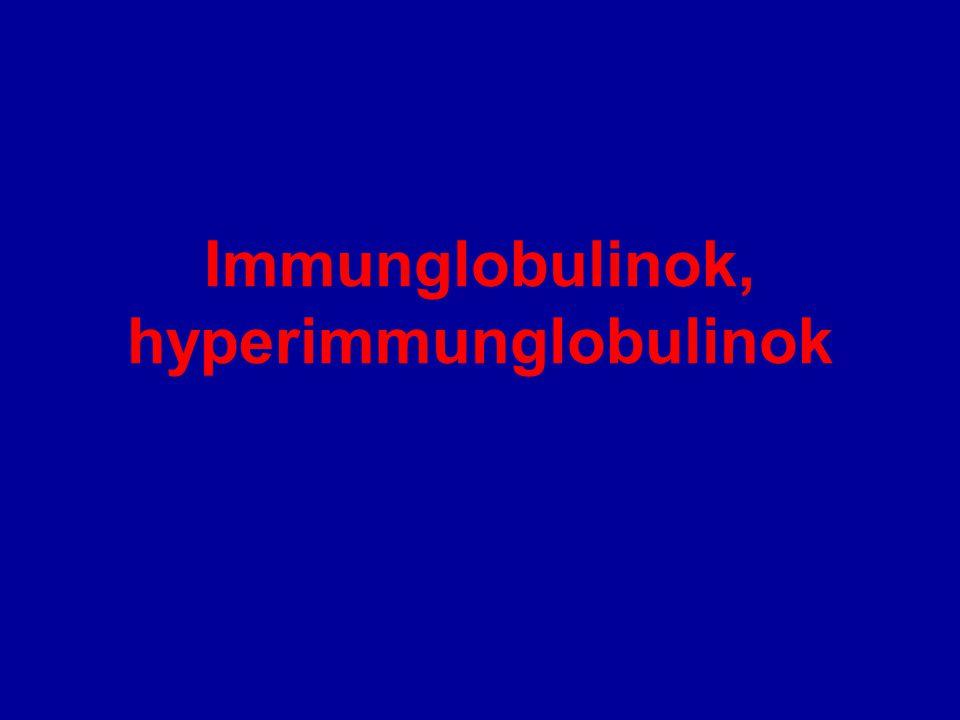 Immunglobulinok, hyperimmunglobulinok