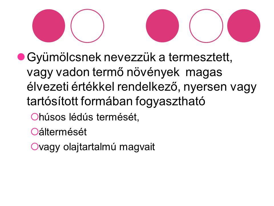 Bogyóstermésű gyümölcsök Szőlő Köszméte Ribiszke Málna Szamóca Szeder Faeper Áfonya Bodza Csipkebogyó