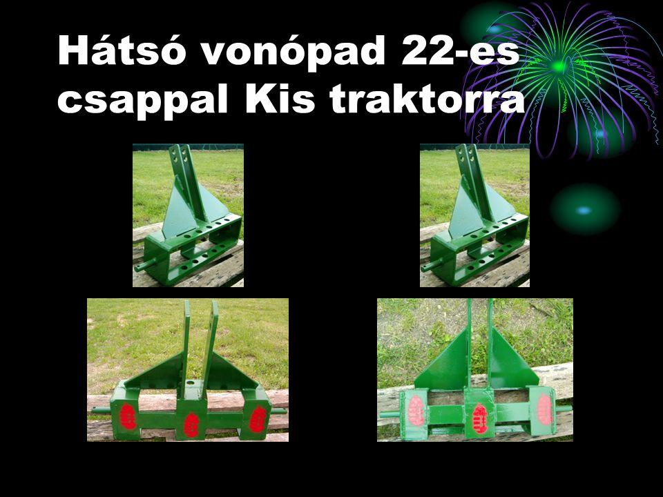 Hátsó vonópad 22-es csappal Kis traktorra