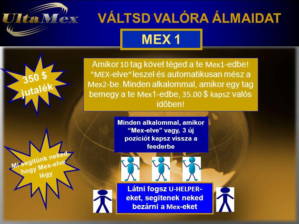 VÁLTSD VALÓRA ÁLMAIDAT 350 $ jutalék Mi segitünk neked, hogy Mex-elve légy Látni fogsz U-HELPER - eket, segitenek neked bezárni a Mex -eket Amikor 10