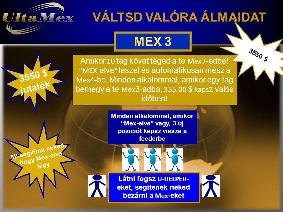VÁLTSD VALÓRA ÁLMAIDAT MEX 3 Amikor 10 tag követ téged a te Mex3 -edbe .