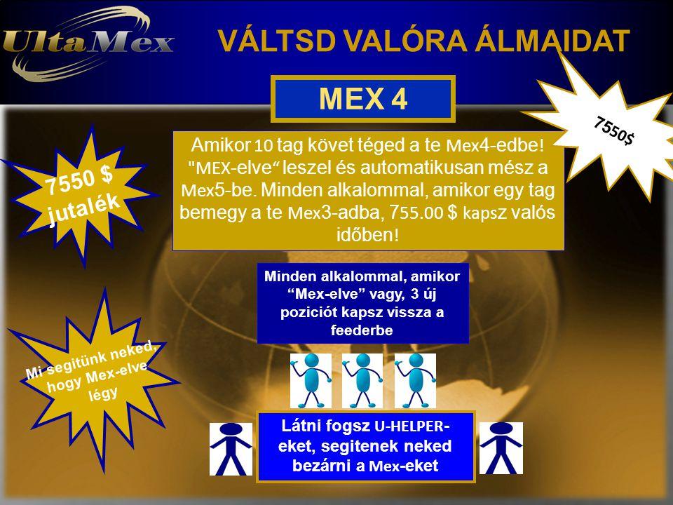 VÁLTSD VALÓRA ÁLMAIDAT MEX 4 Amikor 10 tag követ téged a te Mex 4-edbe !