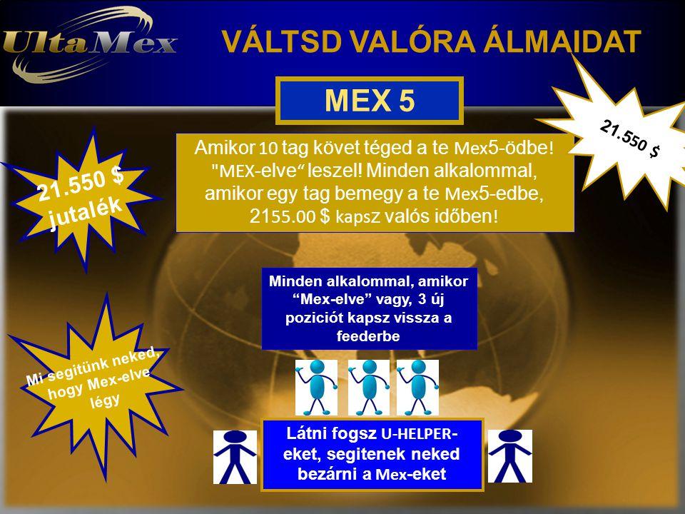 VÁLTSD VALÓRA ÁLMAIDAT MEX 5 Amikor 10 tag követ téged a te Mex 5-ödbe !