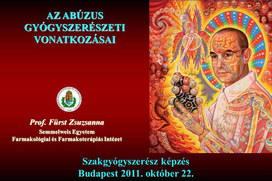 Prof. Fürst Zsuzsanna Semmelweis Egyetem Farmakológiai és Farmakoterápiás Intézet Szakgyógyszerész képzés Budapest 2011. október 22. AZ ABÚZUS GYÓGYSZ