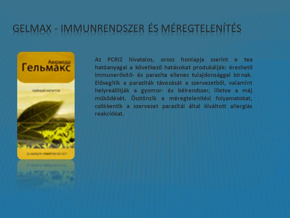 Az PCRIZ hivatalos, orosz honlapja szerint e tea hatóanyagai a következő hatásokat produkálják: érezhető immunerősítő- és parazita ellenes tulajdonsággal bírnak.