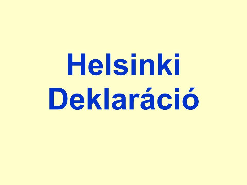 Helsinki Deklaráció