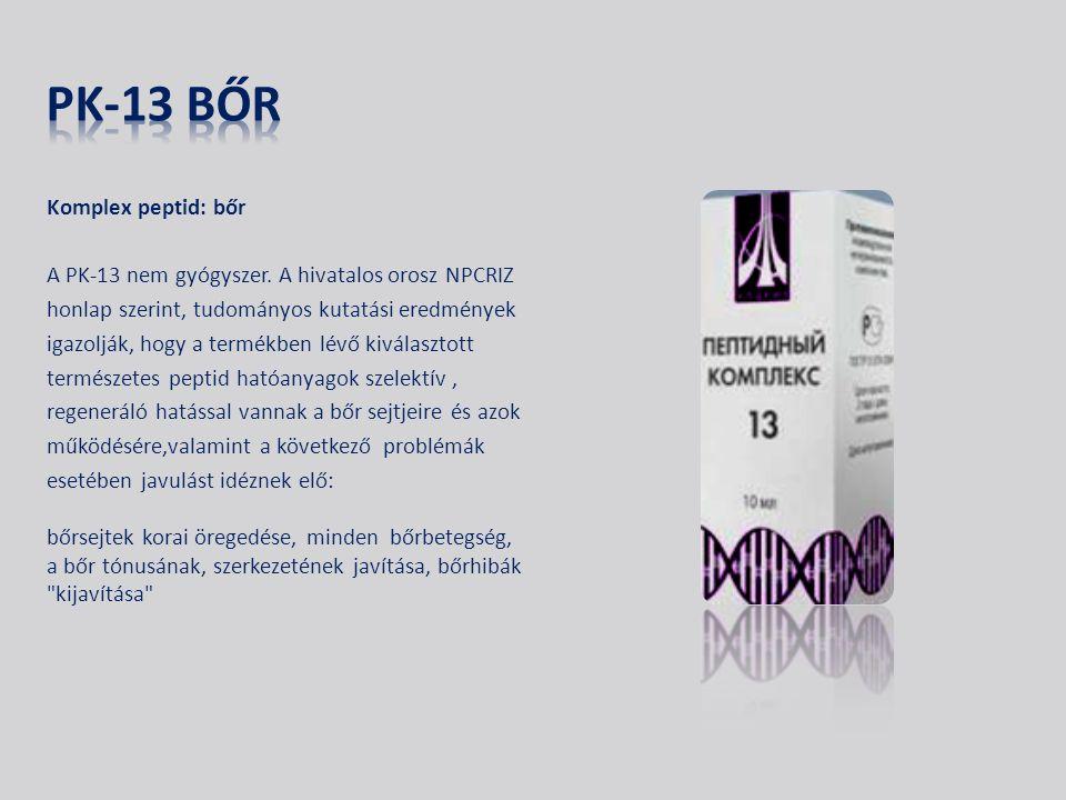 Komplex peptid: bőr A PK-13 nem gyógyszer.