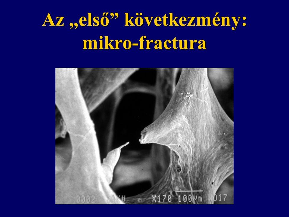 """Az """"első"""" következmény: mikro-fractura"""