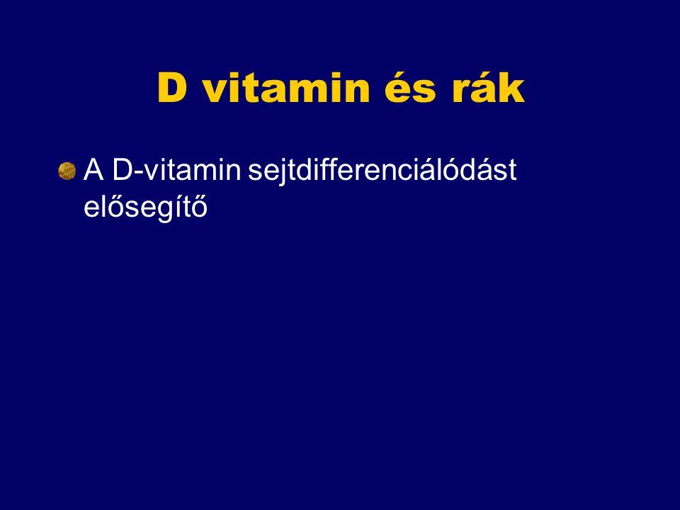 D vitamin és rák A D-vitamin sejtdifferenciálódást elősegítő
