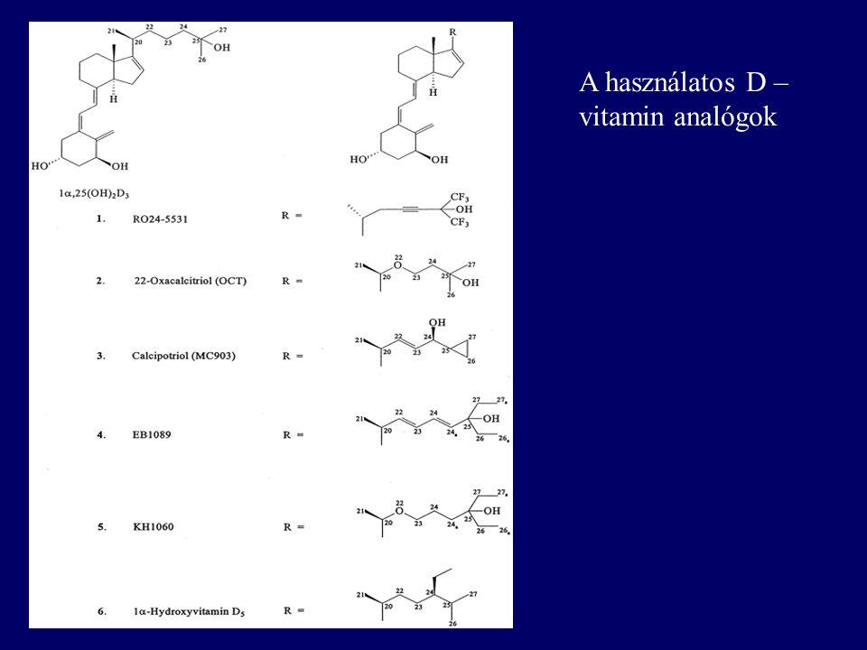 A használatos D – vitamin analógok