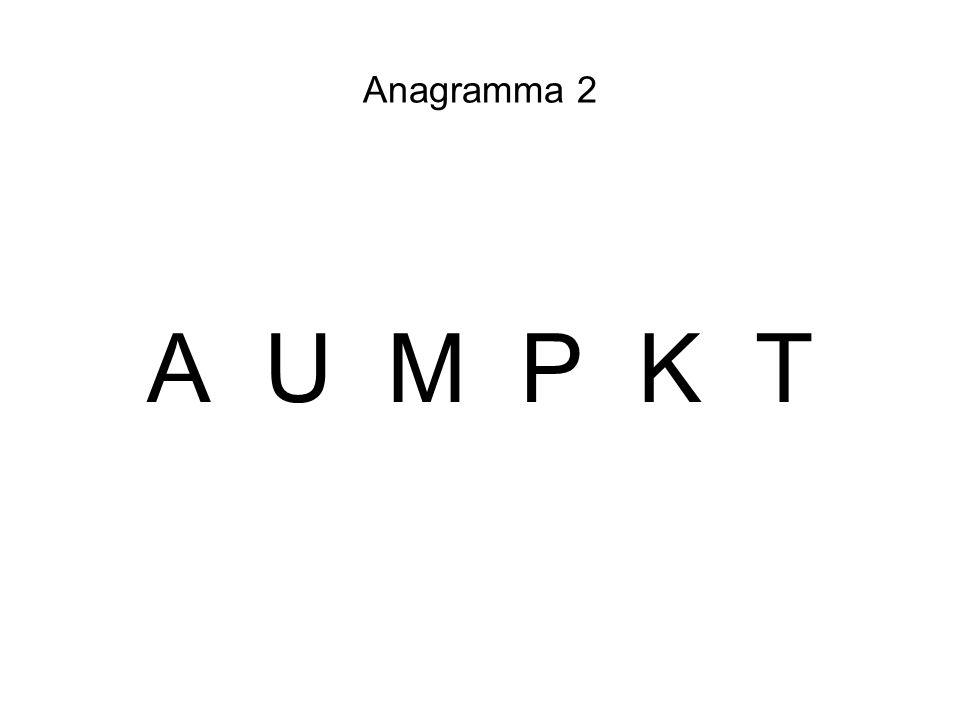 Anagramma 2 A U M P K T