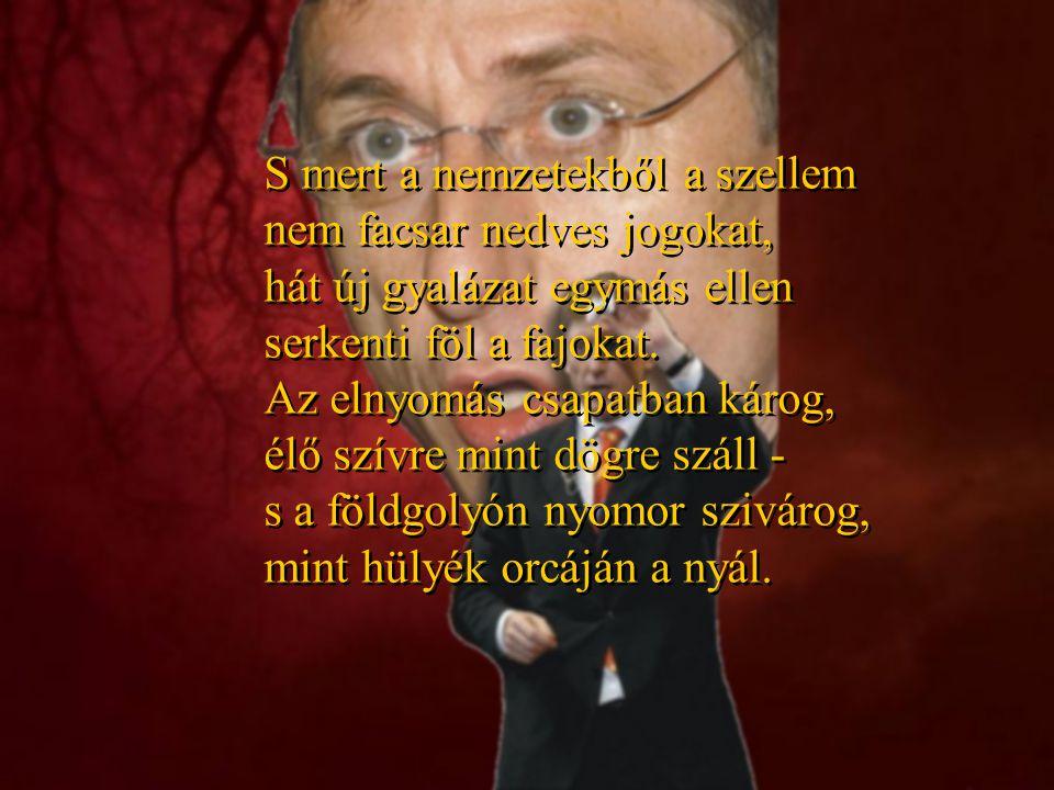 A MAGYAR NEMZETHEZ Minden magyarokhoz fordulok: fő-, és közemberekhez, bármely párthoz, vallási felekezethez tartozó kétkezi-, vagy szellemi munkával kenyerét kereső jószándékú Magyar Emberhez országhatáron innen és országhatáron túl.