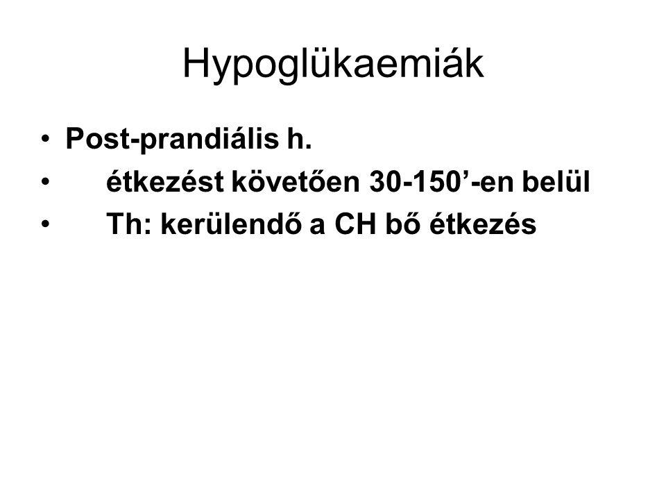Glikogenozis Ok: valamelyik enzim hiánya v.