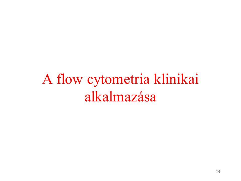 44 A flow cytometria klinikai alkalmazása