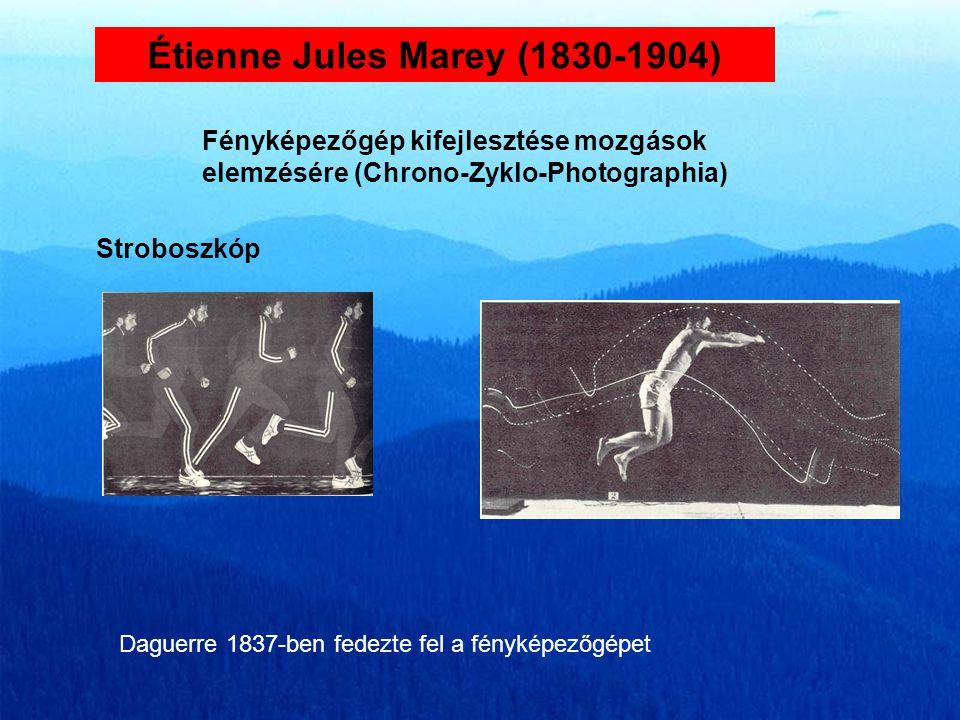 Christian Wilhelm Braune (1831-1892) Járáselemzés Otto Fisher (1861-1917) Módszer a testközéppont kiszámítására Jackson (1831-1892) Az idegi központok