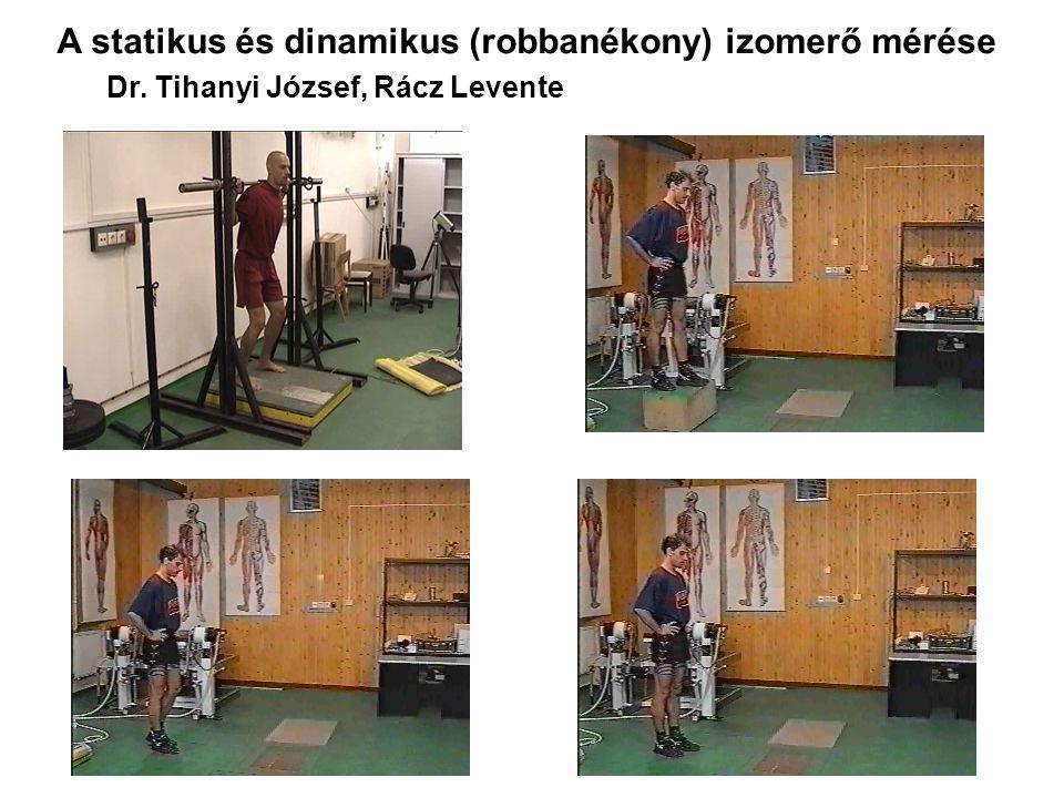 A statikus és dinamikus (robbanékony) izomerő mérése Dr. Tihanyi József, Rácz Levente