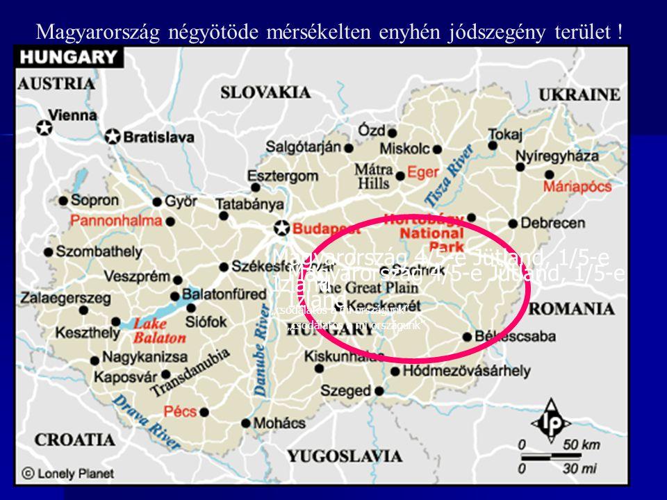 """Magyarország négyötöde mérsékelten enyhén jódszegény terület ! Magyarország 4/5-e Jütland, 1/5-e Izland """"csodálatos a mi országunk"""" Magyarország 4/5-e"""