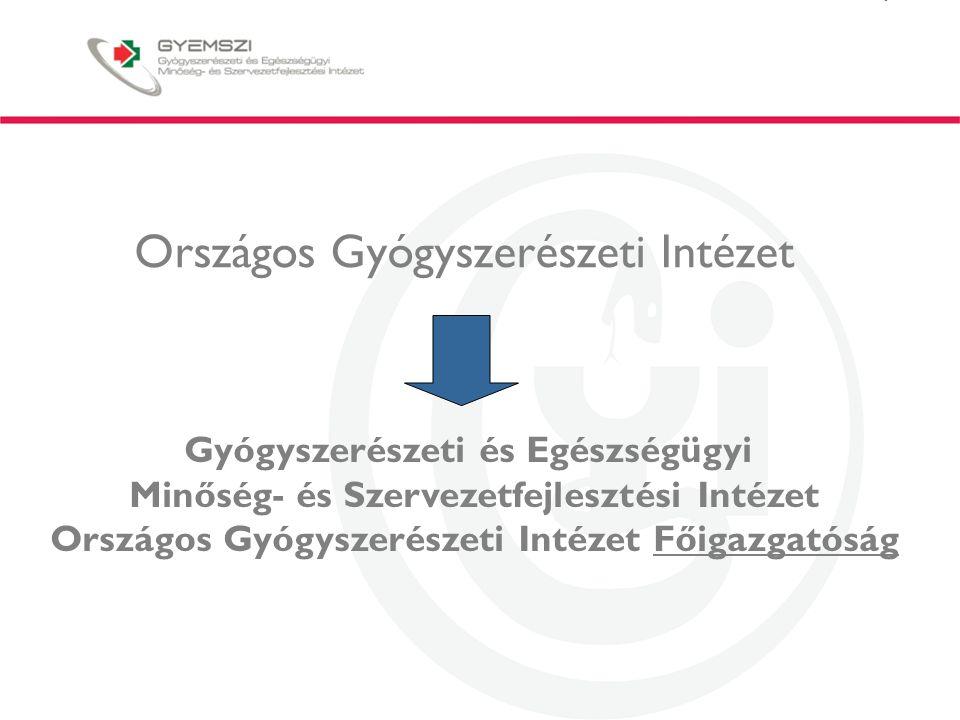 """Felkészülés a jövőbeli feladatokra Alkalmazkodás a jogszabály változásokhoz szervezeti változásokhoz és a gyógyszerpiac változásaihoz -Felkészülés és eljárásrend kialakítása a gyógyszerhiányok kezelésére, hatékonyabb gyógyszerpiac-ellenőrzés, jogszabály- változtatási koncepciók -Felkészülés a gyógyszerhatósági tevékenység nyilvánosságával szemben támasztott jogos igények kielégítésére -Fejlett terápiás készítmények kórházi kivételének szabályozása, a """"kis volumenű gyógyszerelőállítás európai tendenciáinak figyelemmel kísérése, és implementálási lehetőségeinek vizsgálata -Fokozottabb együttműködés társhatóságokkal diagnosztikum- gyógyszer kombinációk, orvostechnikai eszközök, gyógyszerek környezeti kockázatainak, GMO termékek/gyártóhelyek, hamis termékek stb."""